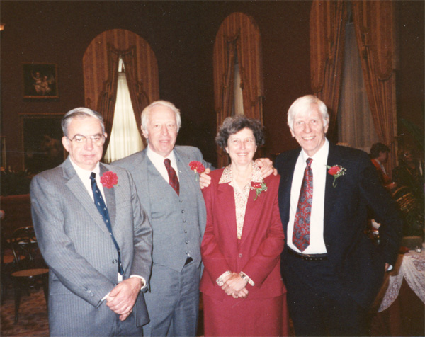 The 1989 National Medal of Technology recipients, from left: Richard A. Lundy, J. Ritchie Orr, Helen T. Edwards, Alvin V. Tollestrup. Photo: Janine Tollestrup