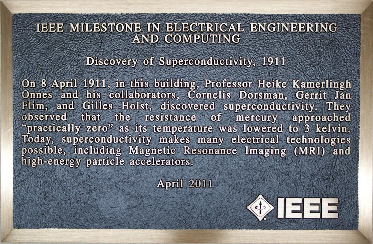 Plaque for IEEE Milestone in Electrical Engineering and Computing